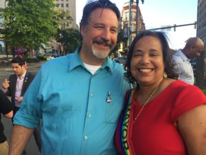 Photo of Marty Campbell with Tacoma Mayor Victoria Woodards